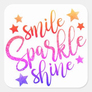 Smile Sparkle Shine Multi Stickers Labels