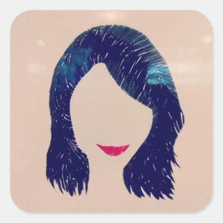 #Smile Square Sticker
