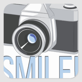 Smile Square Sticker