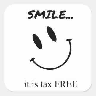 Smile Square Sticker