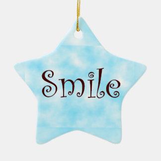 Smile-star ornament