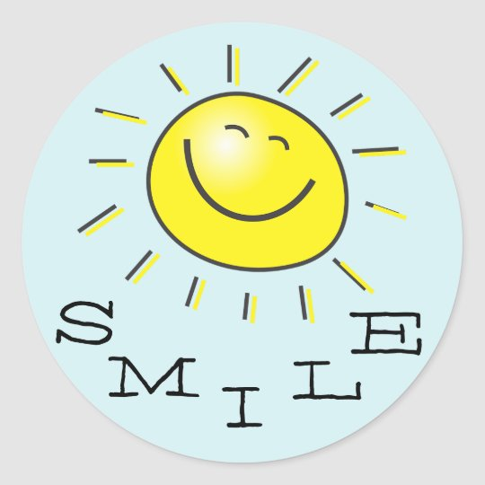 Smile Sun Sticker