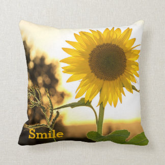 Smile Sunflower Pillow