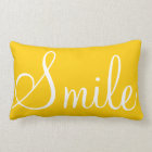 SMILE - Sunshine yellow decorative pillow