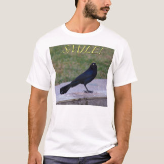 """""""Smile!"""" T-Shirt - Great-Tailed Grackle"""
