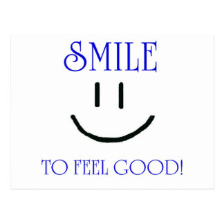 smile to feel good post card