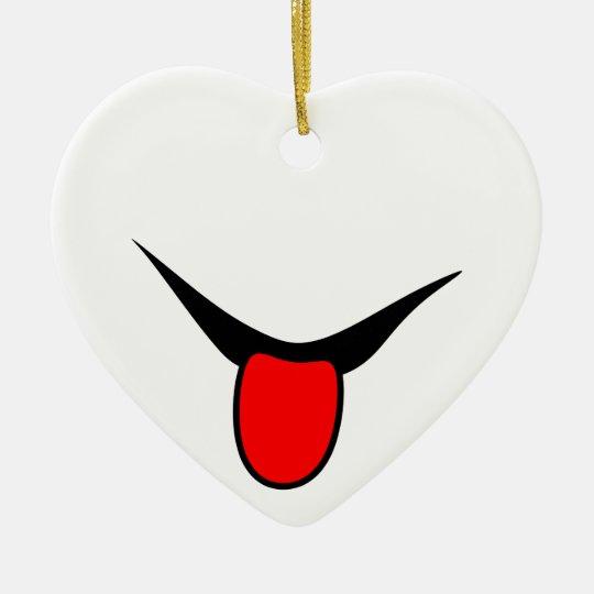 Smile - tongue. ceramic ornament