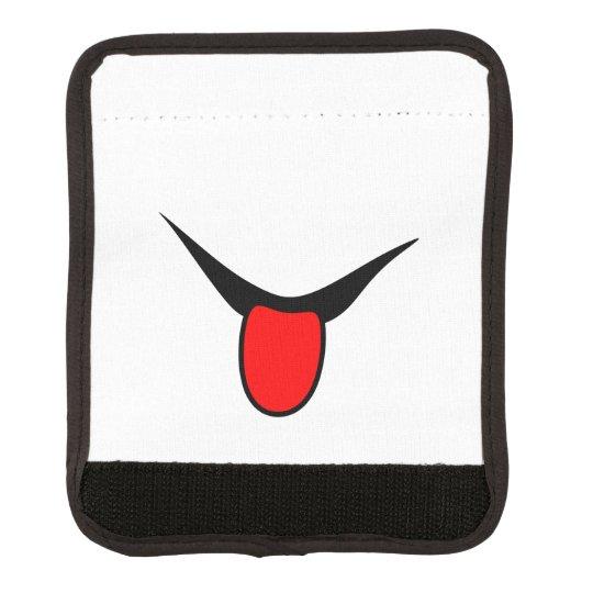 Smile - tongue. luggage handle wrap