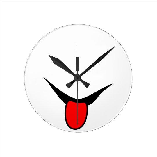 Smile - tongue. round clock