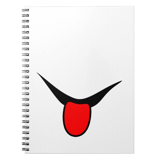 Smile - tongue. spiral notebook