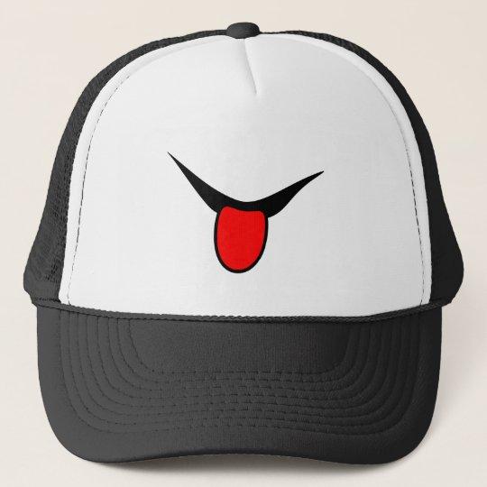 Smile - tongue. trucker hat