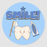 SMILE - Tooth T-shirts and Gifts Round Sticker