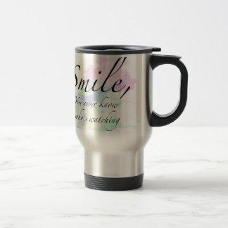 smile travel mug