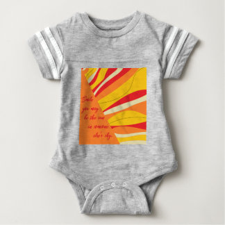 smile you may be the sun in someone elses sky baby bodysuit