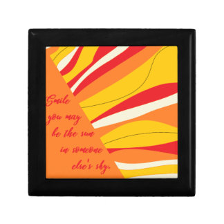 smile you may be the sun in someone elses sky gift box