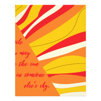 smile you may be the sun in someone elses sky letterhead