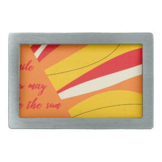 smile you may be the sun in someone elses sky rectangular belt buckle