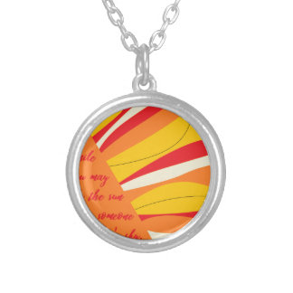 smile you may be the sun in someone elses sky silver plated necklace