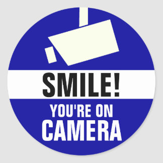 Smile You re On Camera Stickers