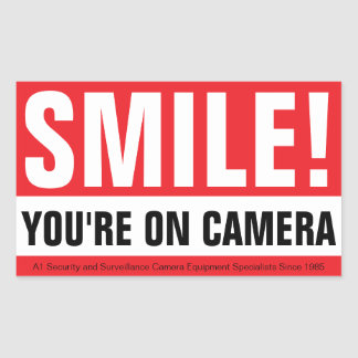 Smile, Your On Camera! Sticker