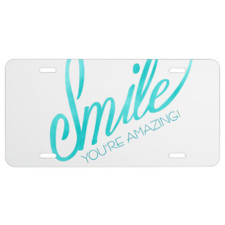 Smile You're Amazing License Plate