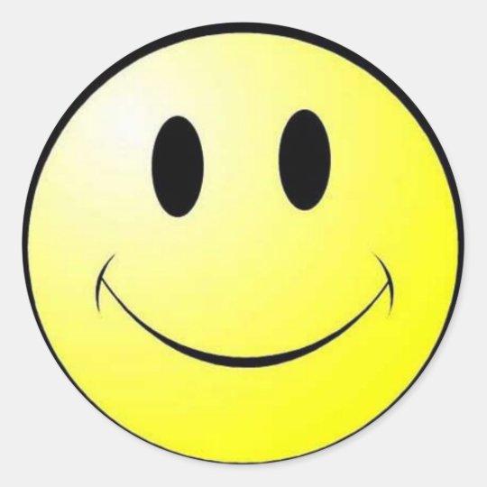 Smiler Classic Round Sticker