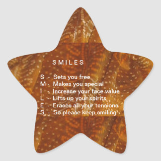 Smiles are Contagious Star Stickers
