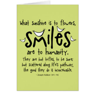 Smiles - Inspirational Quote Card