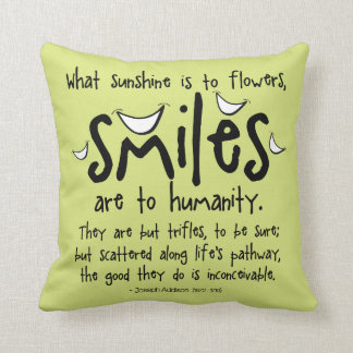 Smiles - Inspirational Quote Cushion