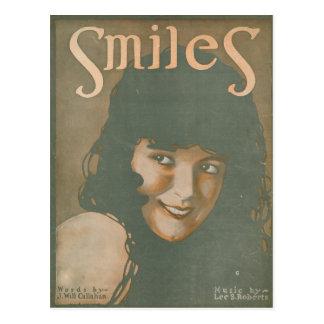 Smiles Vintage Music Postcard
