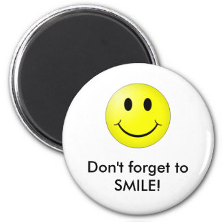 Smiley! 2 Inch Round Magnet