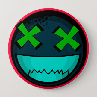 Smiley 4 Inch Round Button
