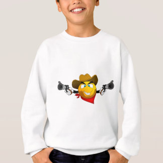 Smiley american dangerous bandit with guns sweatshirt