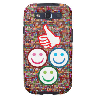 SMILEY and Thumbs UP HAPPY FACES Galaxy S3 Case