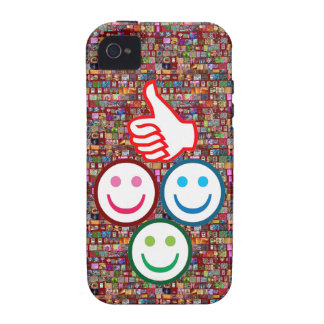 SMILEY and Thumbs UP : HAPPY FACES iPhone 4/4S Case