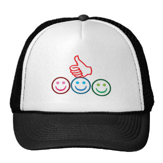 SMILEY and Thumbs UP : HAPPY FACES Trucker Hats