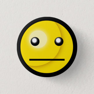 Smiley Blank Stare Button