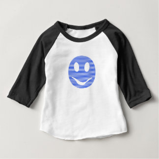 Smiley - blue strips. baby T-Shirt