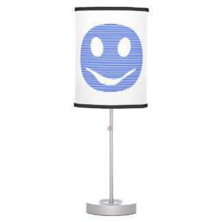 Smiley - blue strips. table lamp