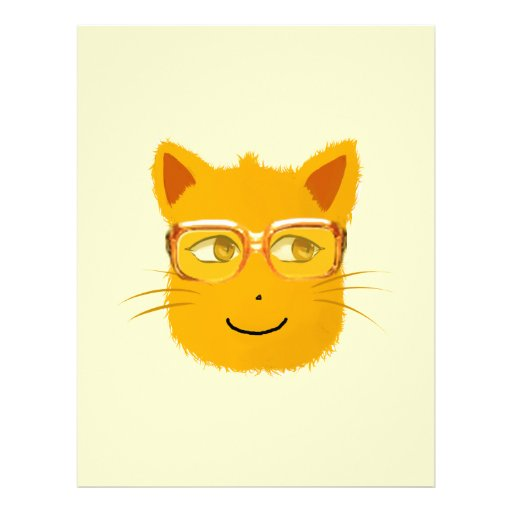 Smiley Cat with sunglass Letterhead Design