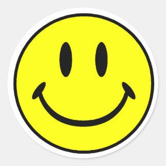 Smiley Classic Round Sticker