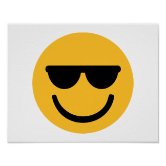 Smiley cool sunglasses poster