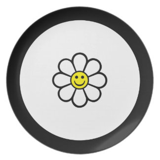 Smiley Daisy Plates