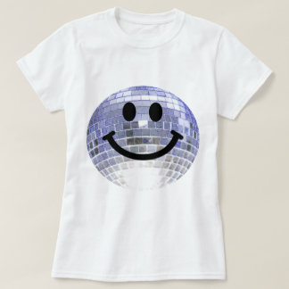 Smiley de boule de disco t-shirt