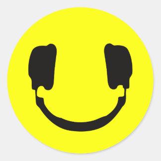 Smiley du DJ Autocollants Ronds