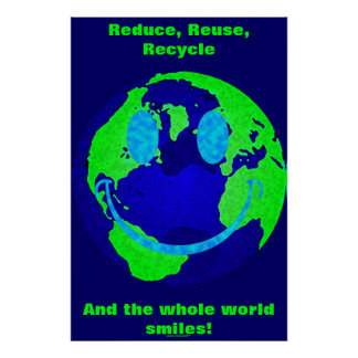 Smiley Earth Poster