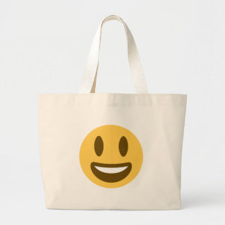 Smiley emoji large tote bag