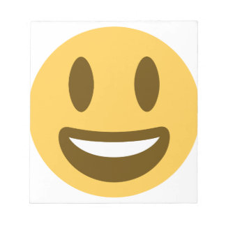Smiley emoji notepad