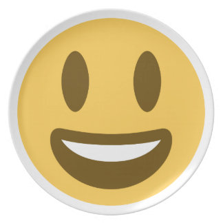 Smiley emoji party plate