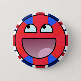 smiley england 2 inch round button